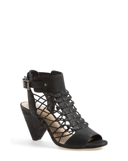 Vince Camuto - Black Evel Leather Sandal - Lyst