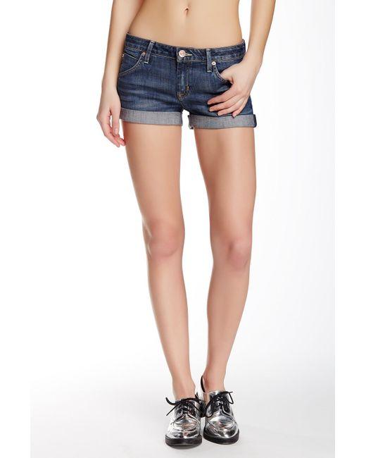 Hudson - Blue Cuff Denim Shorts - Lyst