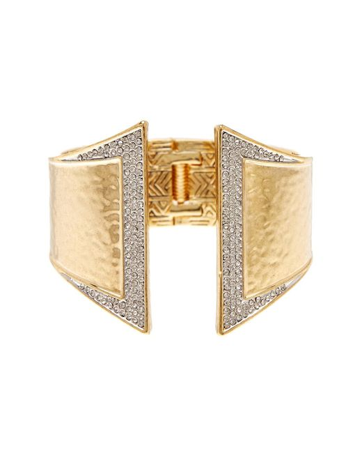 House of Harlow 1960 - Metallic Accented Hinge Cuff Bracelet - Lyst