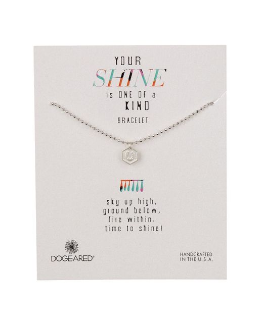 Dogeared - Metallic Sterling Silver Your Shine Horseshoe Token Bracelet - Lyst