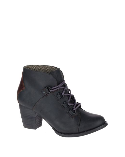 Caterpillar | Black Arbor Waterproof Leather Lace-up Bootie | Lyst