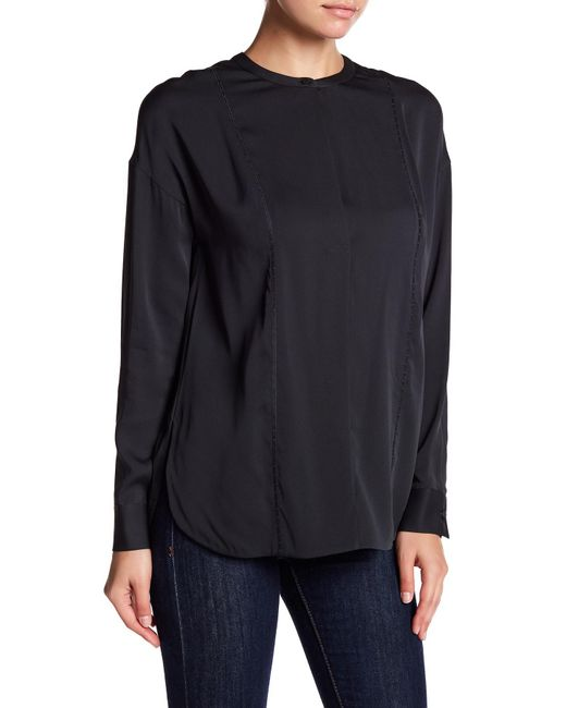 Vince | Blue Embroidery Stitch Blouse | Lyst