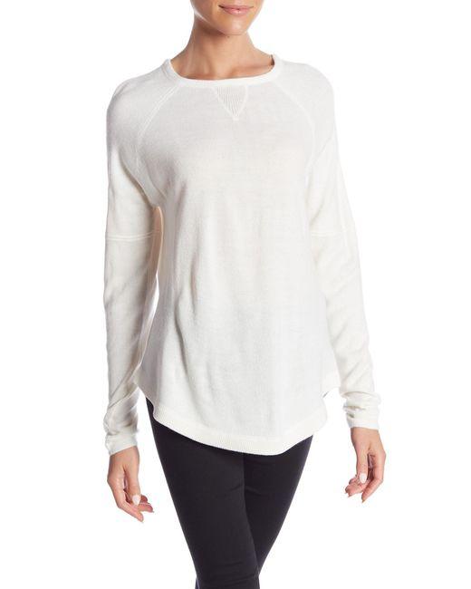 Sweet Romeo - White Solid Raglan Sweater - Lyst