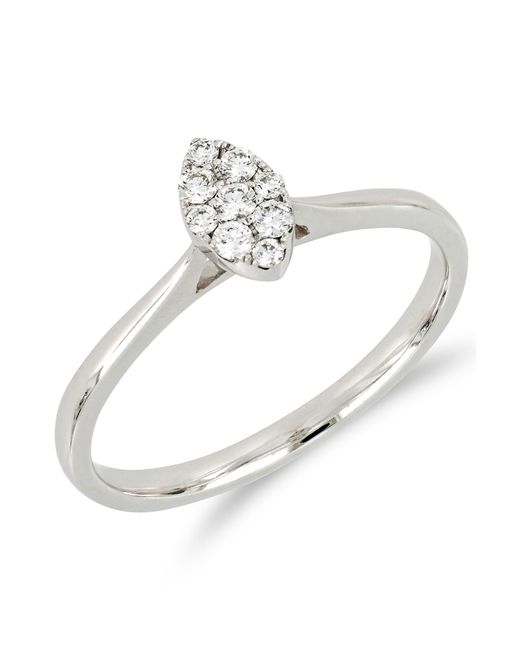 Bony Levy - Multicolor 18k White Gold Diamond Marquise Ring - 0.14 Ctw - Lyst