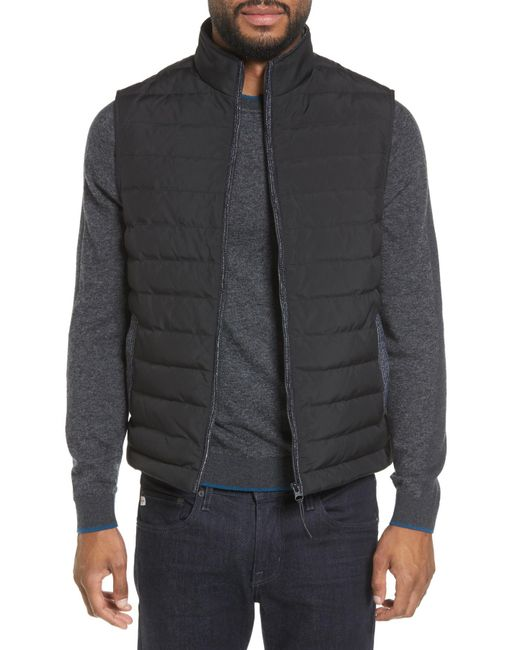 Ted Baker - Black Jozeph Quilted Down Vest for Men - Lyst