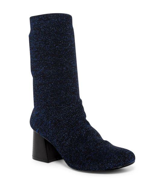 Cape Robbin - Blue Daisy Metallic Knit Bootie - Lyst