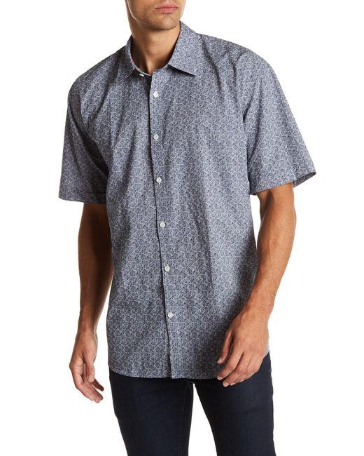 James Campbell - Blue Knell Short Sleeve Woven Shirt for Men - Lyst