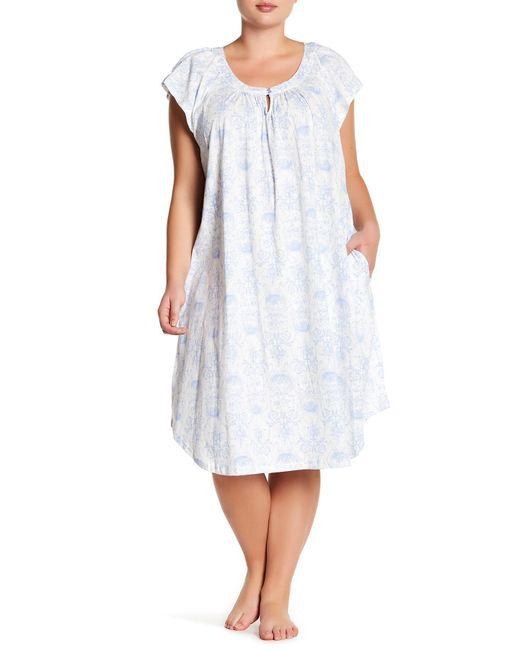 Carole Hochman | White Printed Night Gown (plus Size) | Lyst