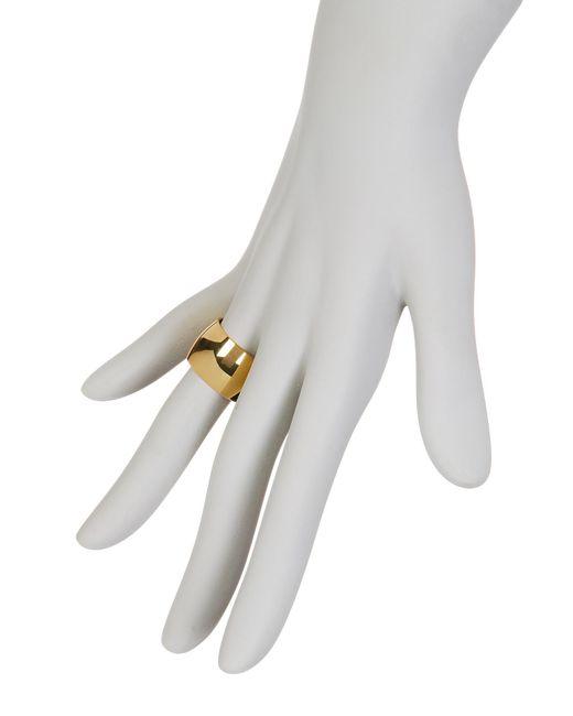 Argento Vivo   Metallic Large Band Ring - Size 8   Lyst