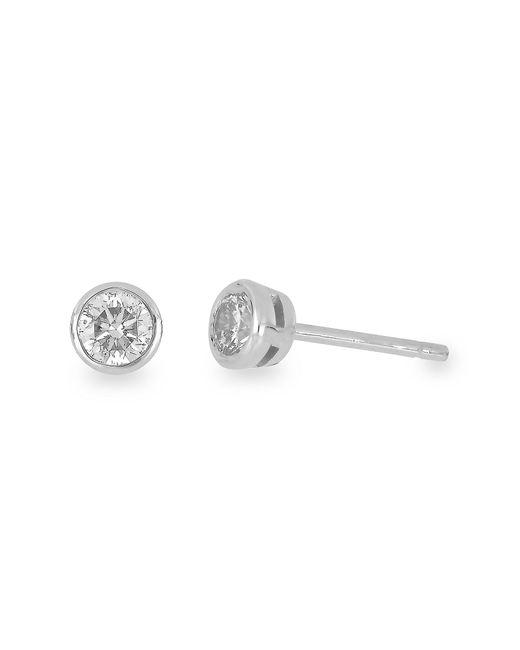 Bony Levy - 14k White Gold Bezel Set Stud Earrings - 1.00 Ctw - Lyst