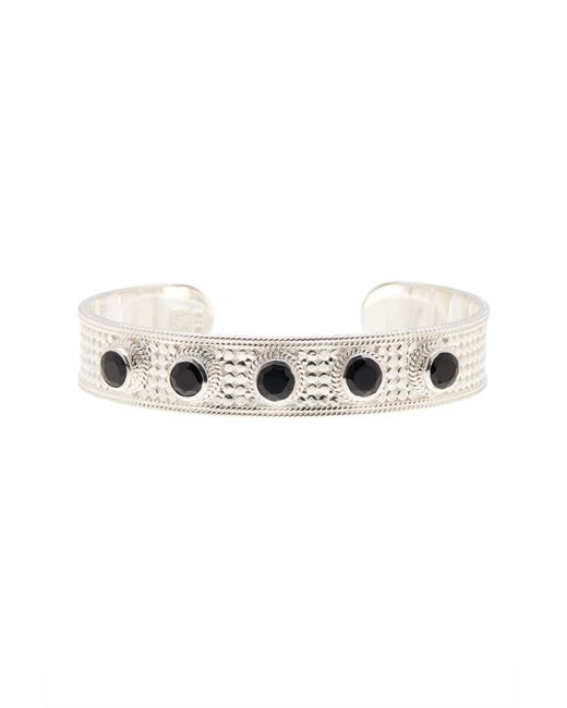 Anna Beck - Metallic Sterling Silver Black Onyx Multi-stone Medium Open Bracelet - Lyst