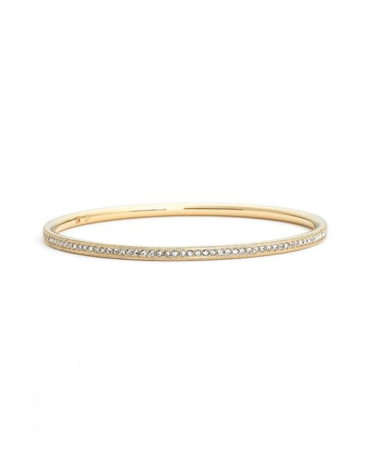 Nadri | Metallic Crystal Pave Bangle | Lyst