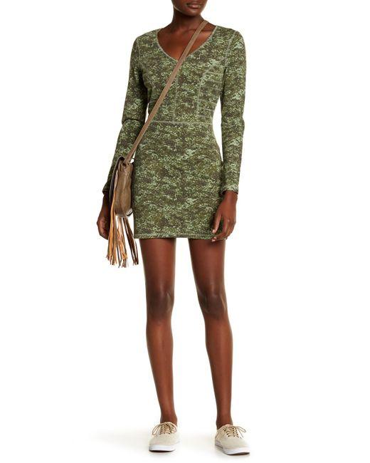 RVCA | Green Easy Kill Back Cutout Dress | Lyst