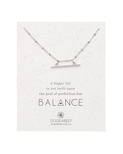 Dogeared - Metallic Sterling Silver 'balance' Beaded Horizontal Bar Pendant Necklace - Lyst