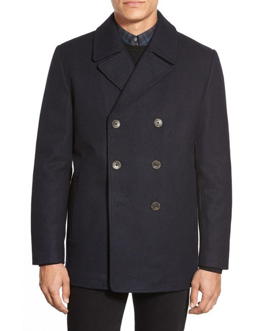 Vince Camuto - Blue Classic Peacoat for Men - Lyst