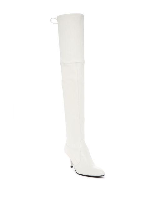 Stuart Weitzman - White Tiemodel Over-the-knee Stretch Boot - Lyst