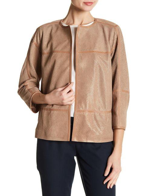 Lafayette 148 New York - Multicolor Textured Genuine Leather Maureen Jacket - Lyst