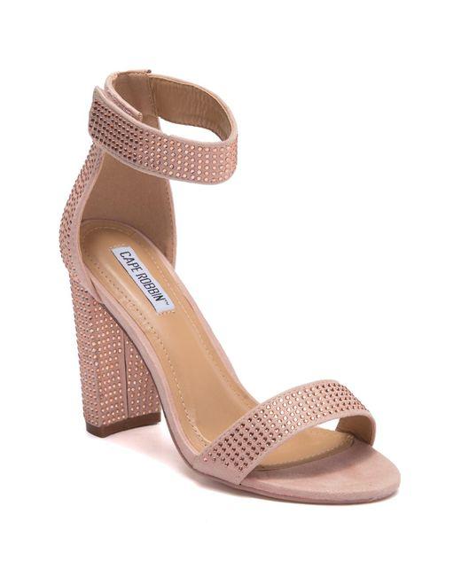 Cape Robbin - Multicolor Karma Block Heel Studded Sandal - Lyst