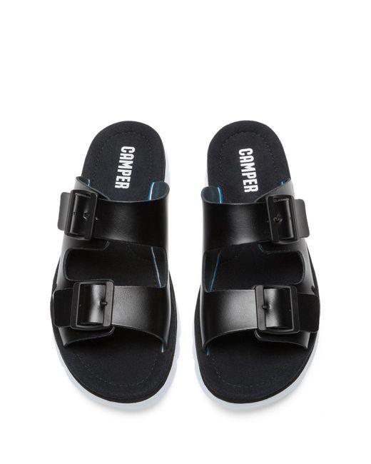35cf2a940165 ... Camper - Black Oruga Leather Sandal - Lyst ...