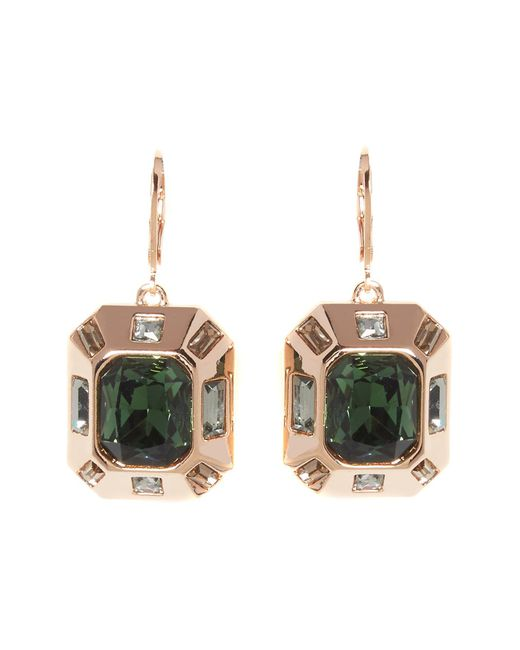 Vince Camuto | Multicolor Bezel Set Faceted Crystal Drop Earrings | Lyst