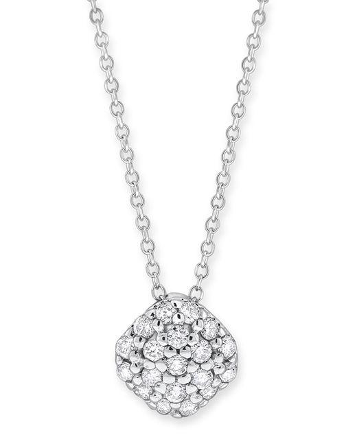 KC Designs | 14k White Gold Diamond Pave Cushion Shape Necklace - 0.28 Ctw | Lyst