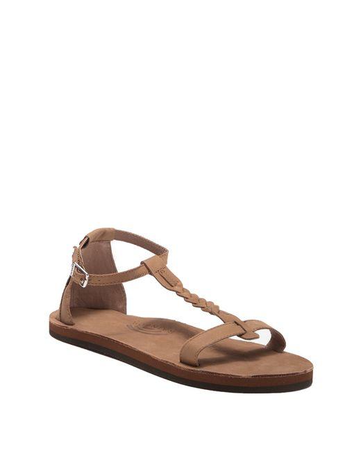 f8156663a5e3 Rainbow Sandals - Brown Calafia Single Layer Center Braid Heel - Lyst ...