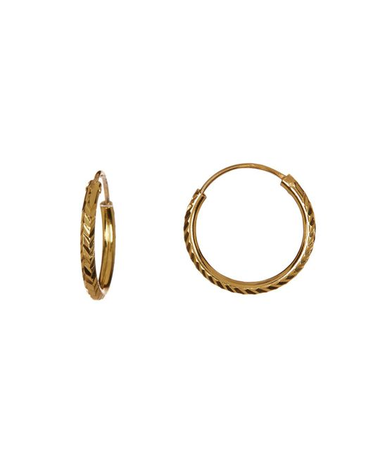 Argento Vivo | Metallic 18k Gold Plated Sterling Silver Small Arrow Cut Hoop Earrings | Lyst