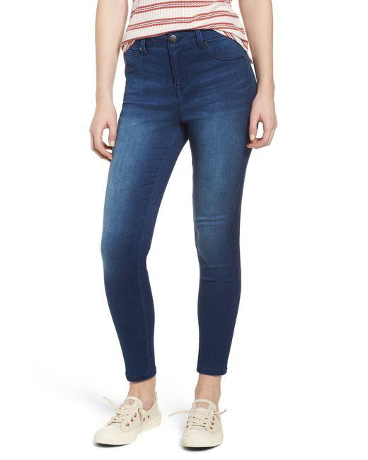 1822 Denim - Blue Butter High Rise Skinny Jeans (rinse) - Lyst