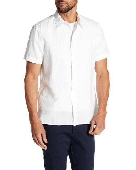 Perry Ellis - White Solid Linen Blend Shirt for Men - Lyst