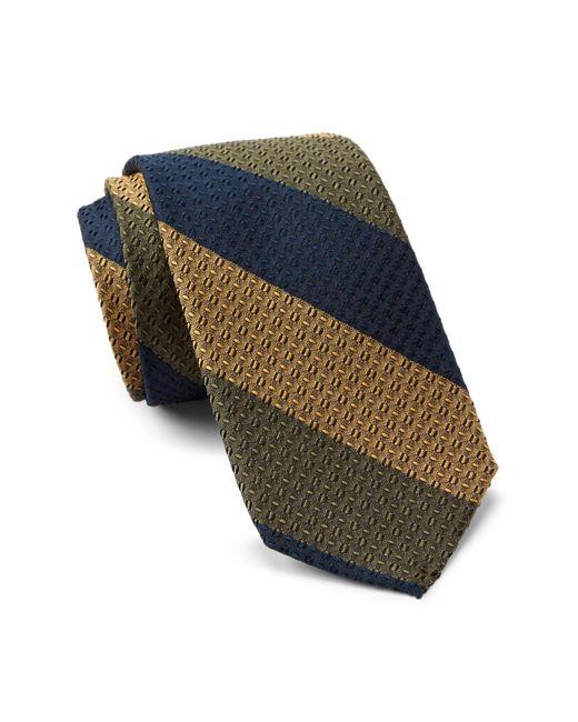 Ben Sherman - Green Howard Bar Stripe Silk Tie for Men - Lyst
