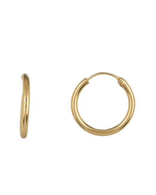 Argento Vivo - Metallic 18k Gold Plated Sterling Silver Endless Chunky Hoop Earrings - Lyst