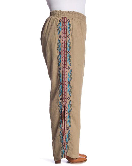 ab20b0ba822 ... Johnny Was - Multicolor Izamal Side Slit Pant (plus Size) - Lyst ...