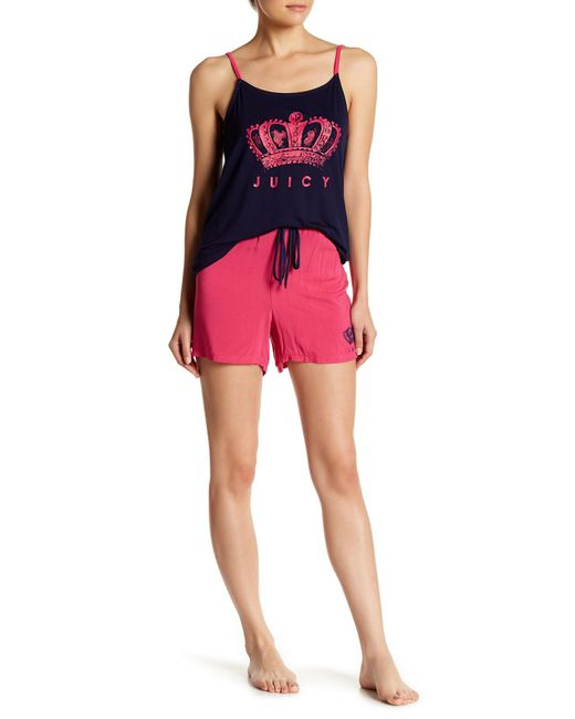 Juicy Couture - Pink Pajama Tank Top & Shorts Set - Lyst