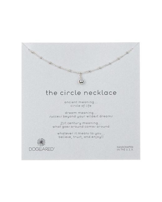 Dogeared - Metallic Sterling Silver 'the Circle' Beaded Ball Pendant Necklace - Lyst
