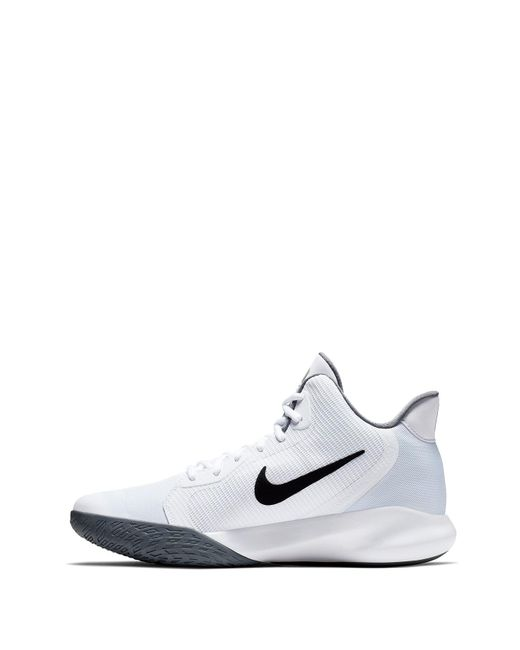 low priced 4037b 82eda ... Nike - White Precision Iii Sneaker for Men - Lyst ...