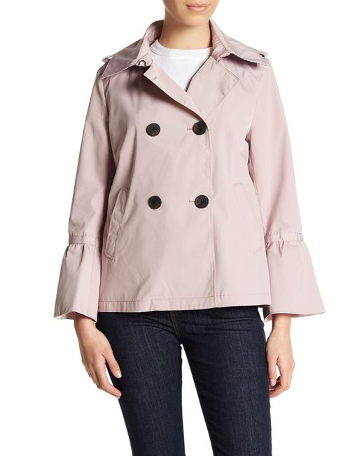 BCBGeneration - Pink Double Breasted Bell Sleeve Coat - Lyst