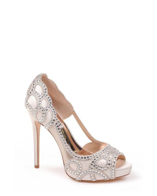 876358d05711 Badgley Mischka - Multicolor Witney Embellished Peep Toe Pump - Lyst ...