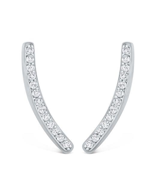 KC Designs | 14k White Gold White Diamond Earrings - 0.16 Ctw | Lyst