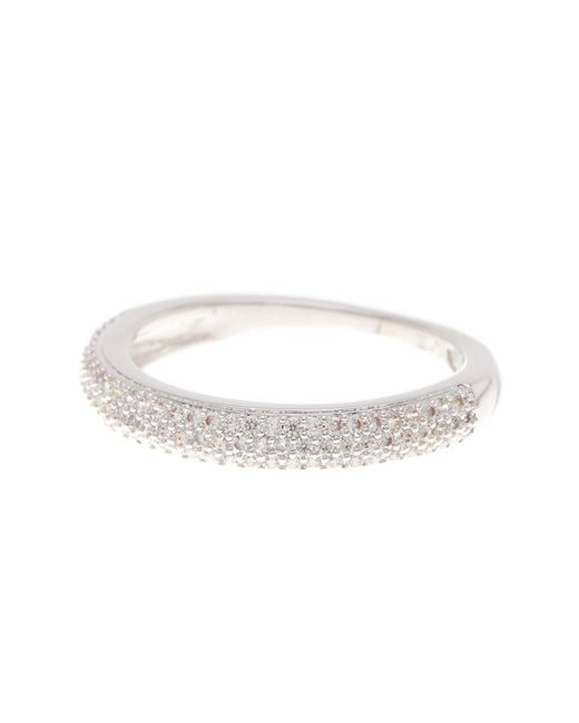 Nadri - Metallic Pave Cz Thin Band Ring - Size 7 - Lyst