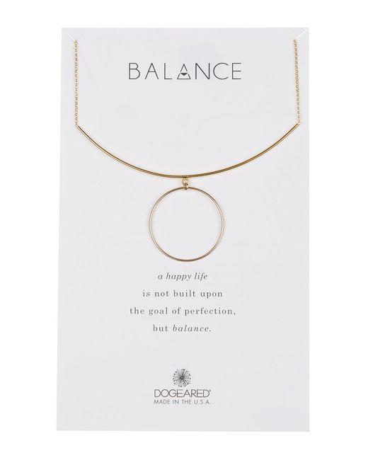 Dogeared - Metallic Balance Delicate Bar & Circle Charm Necklace - Lyst