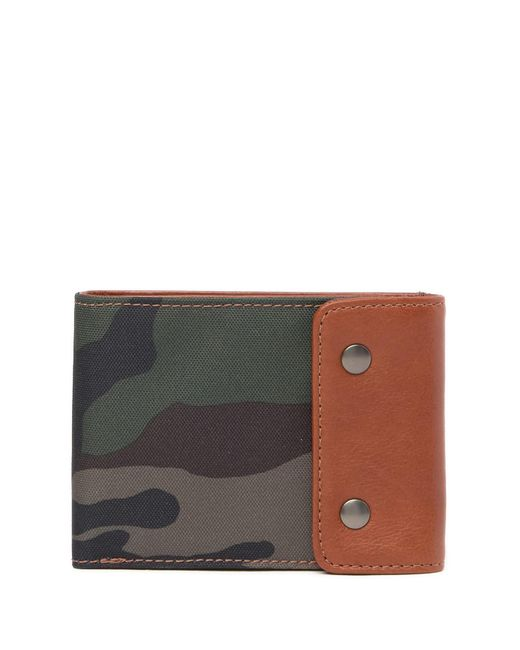 Fossil - Brown Ethan Snap Flap Bifold Wallet for Men - Lyst