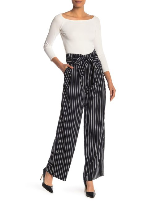 fc9291e801ab Lyst - RACHEL Rachel Roy Piper Striped Wide Leg Pants in Blue - Save 73%