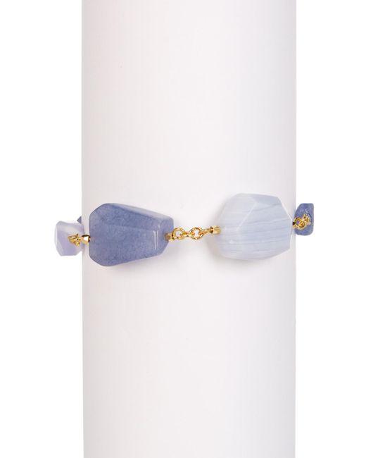Carolee | Metallic 12k Gold Linear Stone Toggle Bracelet | Lyst