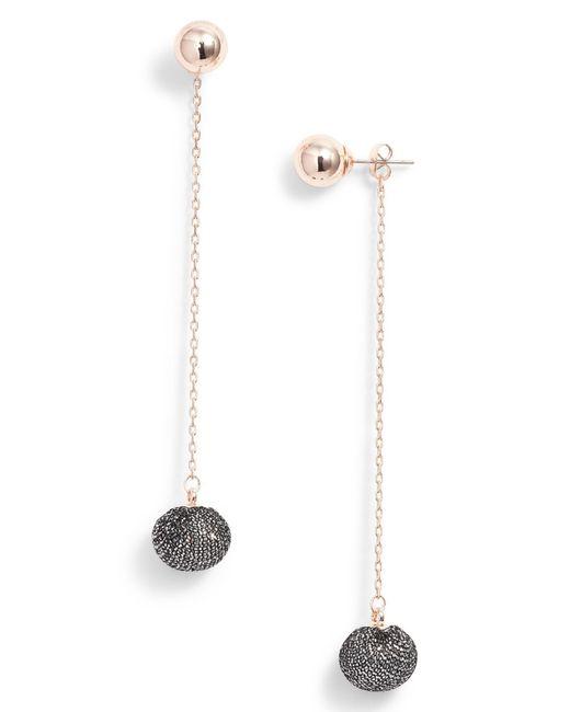 Rebecca Minkoff - Multicolor High Shine Pompom Drop Earrings - Lyst