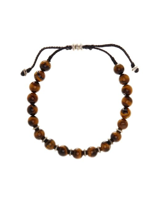 Link Up | Brown Tigers Eye Beaded Cord Bracelet | Lyst