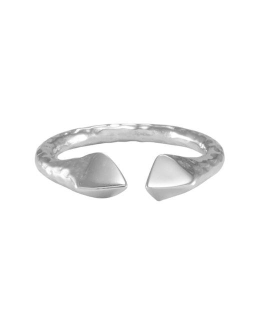 Melinda Maria - Metallic Mila Pyramid End Open Band Ring - Size 8 - Lyst