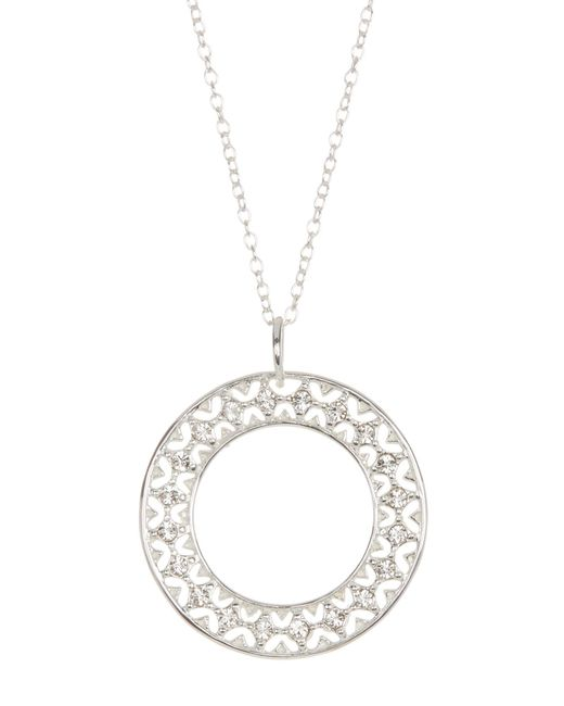 Argento Vivo | Metallic Sterling Silver Filigree Cz Pendant Necklace | Lyst
