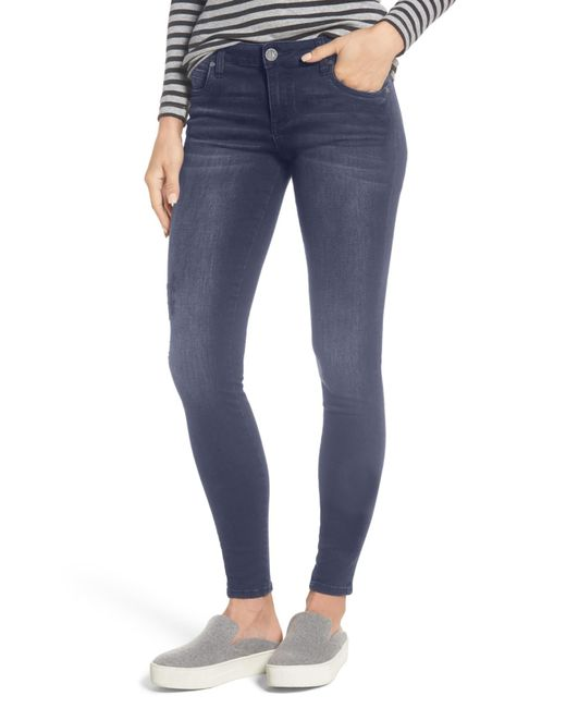 Kut From The Kloth - Blue Mia Embroidered Skinny Jeans - Lyst