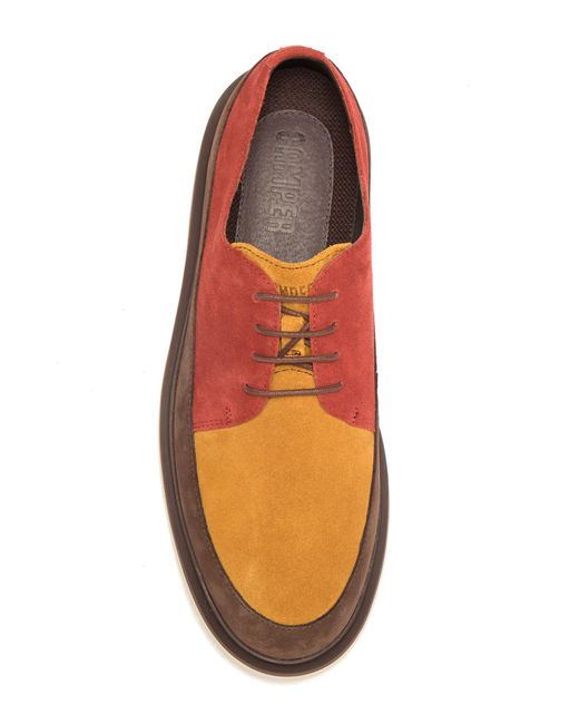 ca9771e892a ... Camper - Multicolor Mateo Suede Flatform Derby for Men - Lyst ...