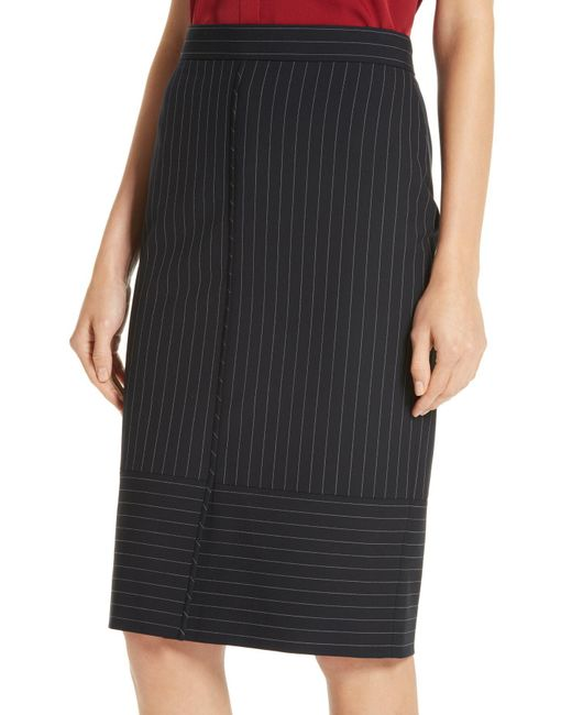 0863597e ... BOSS - Multicolor Vunka Mix Pinstripe Suit Skirt - Lyst ...